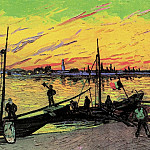 Coal Barges, Vincent van Gogh