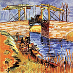 The Langlois Bridge at Arles, Vincent van Gogh
