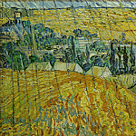 Landscape at Auvers in Rain, Vincent van Gogh