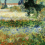 Flowering Garden, Vincent van Gogh