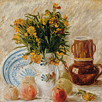 Vincent van Gogh - Vase with Flowers, Coffeepot and Fruit
