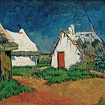 White Cottages in Saintes-Maries, Vincent van Gogh