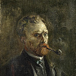 Self-Portrait with Pipe, Vincent van Gogh
