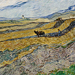Vincent van Gogh - Field and Ploughman and Mill