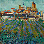 View of Saintes-Maries, Vincent van Gogh