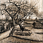 The Parsonage Garden at Nuenen in Winter, Vincent van Gogh