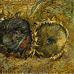 Two Cut Sunflowers, Vincent van Gogh