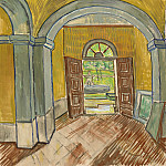 Vestibule in the Asylum, Vincent van Gogh