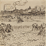 Arles, View from the Wheat Field, Vincent van Gogh