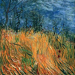 Edge of a Wheatfield with Poppies, Vincent van Gogh