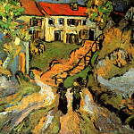 Vincent van Gogh - Street and Steps in Auvers with Two Figures