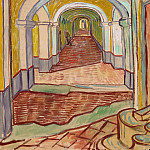 Corridor of Saint-Paul Asylum, Vincent van Gogh