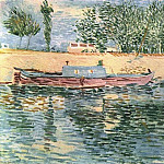 The Banks of the Seine with Boats, Vincent van Gogh