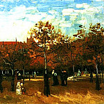 The Bois de Boulogne with People Walking, Vincent van Gogh