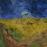 Wheat Field Under Threatening Skies, Vincent van Gogh