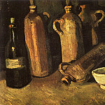 Vincent van Gogh - Still Life with Four Stone Bottles, Flask and White Cup