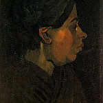 Head of a Peasant Woman with Dark Cap, Vincent van Gogh