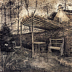 The Garden of the Parsonage with Arbor, Vincent van Gogh