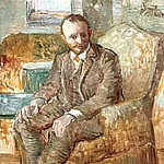 Vincent van Gogh - Portrait of the Art Dealer Alexander Reid, Sitting in an Easy Chair