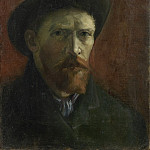 Self-Portrait with Dark Felt Hat, Vincent van Gogh