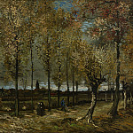 Vincent van Gogh - Lane with Poplars, 1885