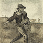 Vincent van Gogh - A Sower (after Millet)