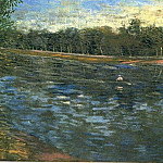 The Seine with a Rowing Boat, Vincent van Gogh