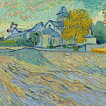 Vincent van Gogh - View of the Asylum and Chapel Saint-Paul de Mausole at Saint Remy