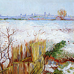 Snowy Landscape with Arles in the Background, Vincent van Gogh