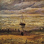 View of the Sea at Scheveningen, Vincent van Gogh