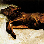 New-Born Calf Lying on Straw, Vincent van Gogh
