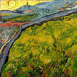 Field of Spring Wheat at Sunrise, Vincent van Gogh