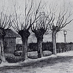 Vincent van Gogh - Small House on a Road with Pollard Willows