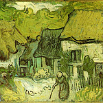 Thatched Cottages, Vincent van Gogh