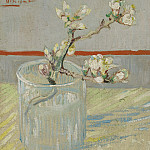 Blossoming Almond Branch in a Glass, Vincent van Gogh