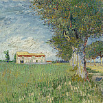 Vincent van Gogh - Farmhouse in a Wheat Field