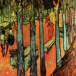 Les Alyscamps - Falling Autumn Leaves, Vincent van Gogh