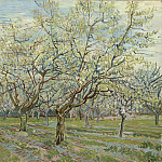 Orchard with Blossoming Plum Trees, Vincent van Gogh