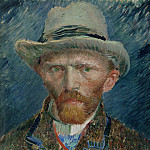 Self-Portrait with Grey Felt Hat, Vincent van Gogh