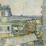 Vincent van Gogh - View of Paris from Vincent s Room in the Rue Lepic