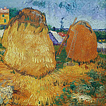 Haystacks in Provence, Vincent van Gogh