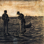 The Evening Prayer , Vincent van Gogh