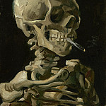 Skull with Burning Cigarette, Vincent van Gogh