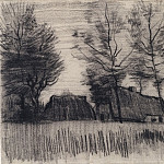 Landscape with Cottages and a Mill, Vincent van Gogh
