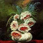 Vase with Peonies, Vincent van Gogh