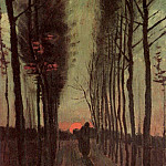 Avenue of Poplars at Sunset, Vincent van Gogh