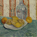 Still Life with Decanter and Lemons on a Plate, Vincent van Gogh