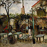Terrace of a Cafe on Montmartre , Vincent van Gogh