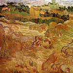 Wheat Fields with Auvers in the Background, Vincent van Gogh