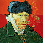Self-Portrait with Bandaged Ear and Pipe, Vincent van Gogh